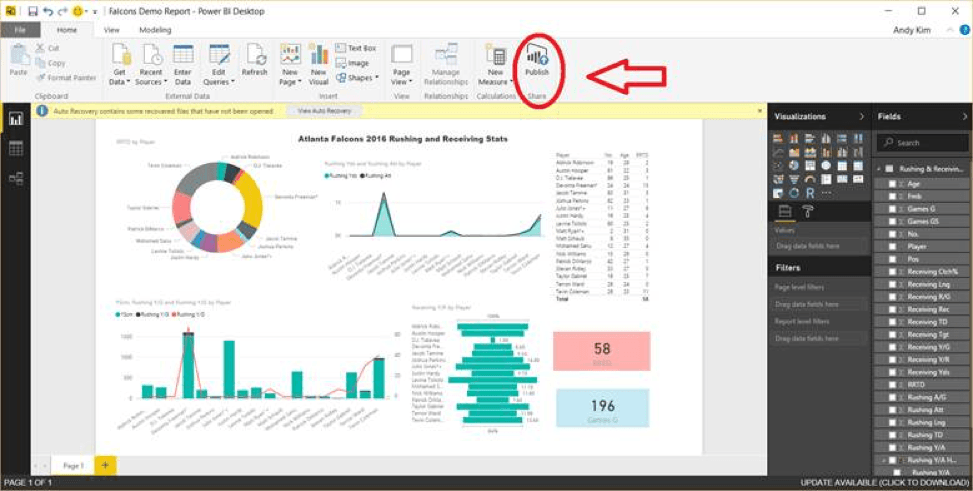 Microsoft Power BI Desktop Application