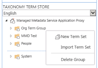 Sharepoint taxonomy term store