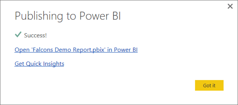 Publish Microsoft Power BI Desktop