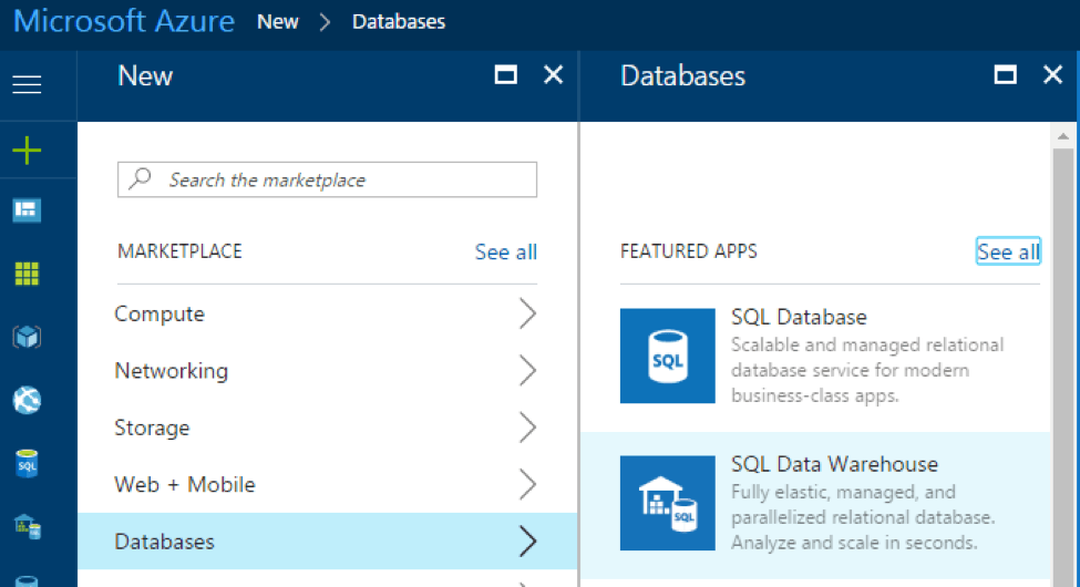 Microsoft Azure SQL Server database