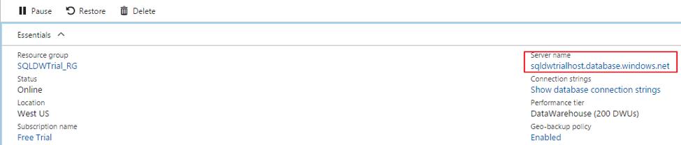 Azure sql data warehouse firewall settings