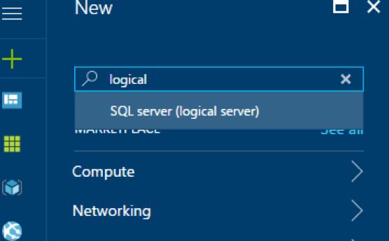 Microsoft Azure SQL Data Warehouse search box
