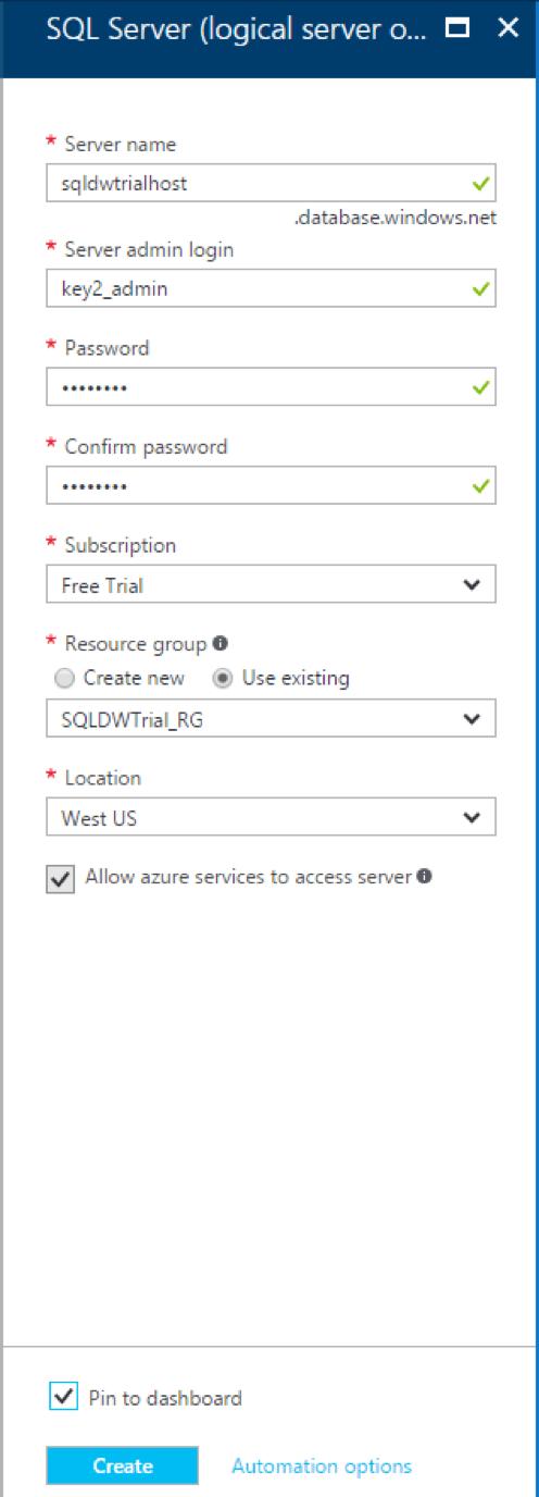 SQL Server logical server