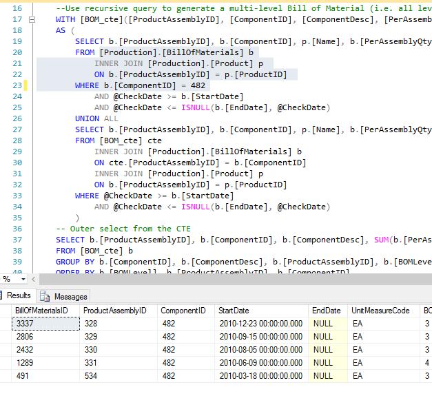 SQL keyboard shortcut code