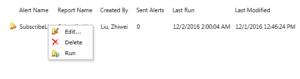 SharePoint settings - my data alerts