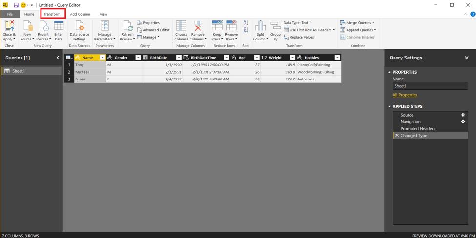 Microsoft PowerBI Desktop