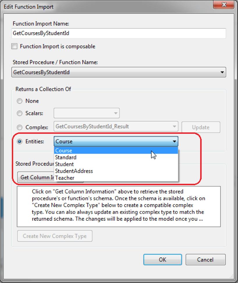 Entity Data Model Wizard Entity Framework