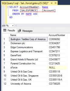 SQL Server Salesforce