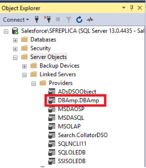DBAmp setting up linked server