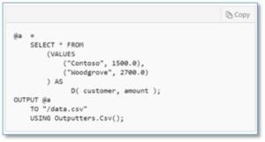 U-SQL, Azure Data Lake