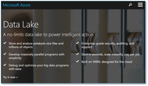 Screenshot - Highlights of Microsoft Azure Data Lake
