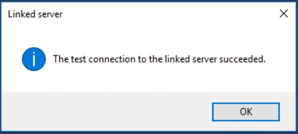 Linked server test connection