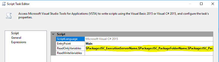Ssis Visual Studio 2015