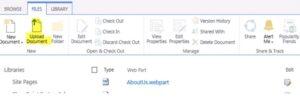 SharePoint Upload Document