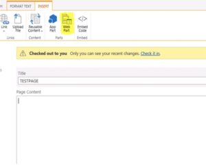 SharePoint Web Part option