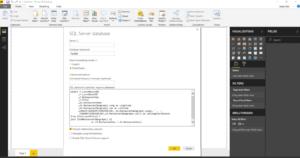 Power BI Desktop SQL Statement
