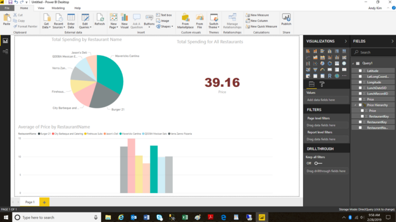 Power BI Example Report 1