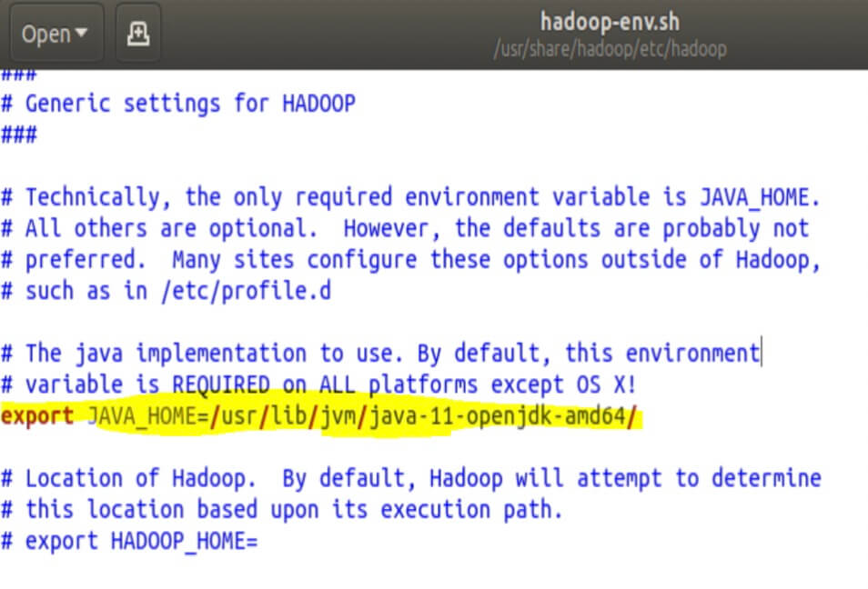 Hadoop Env Settings