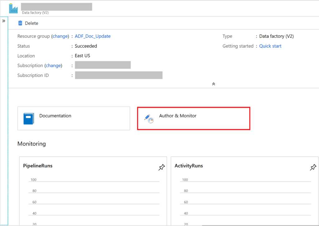 Azure Data Factory Page