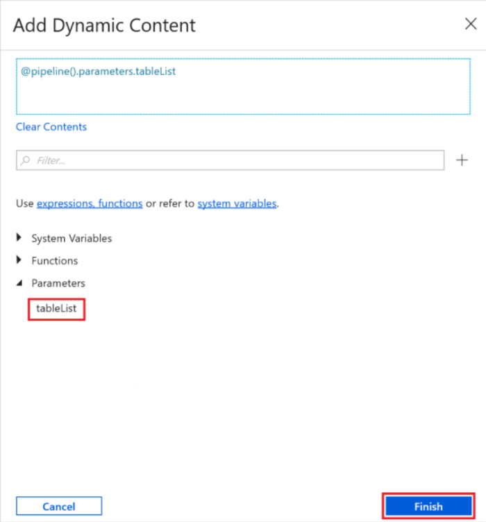 add dynamic content