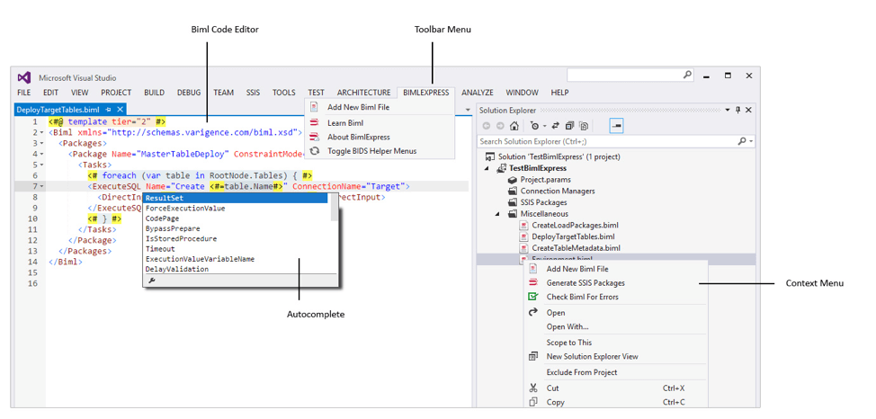 BIML in Visual Studio
