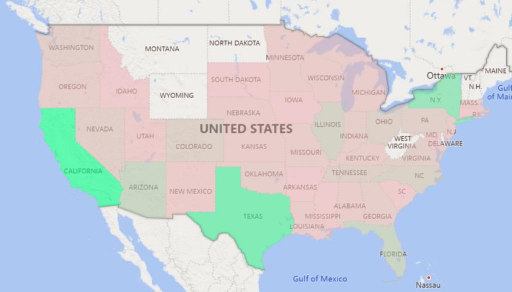 Power BI Filled Map Choropleth Screenshot